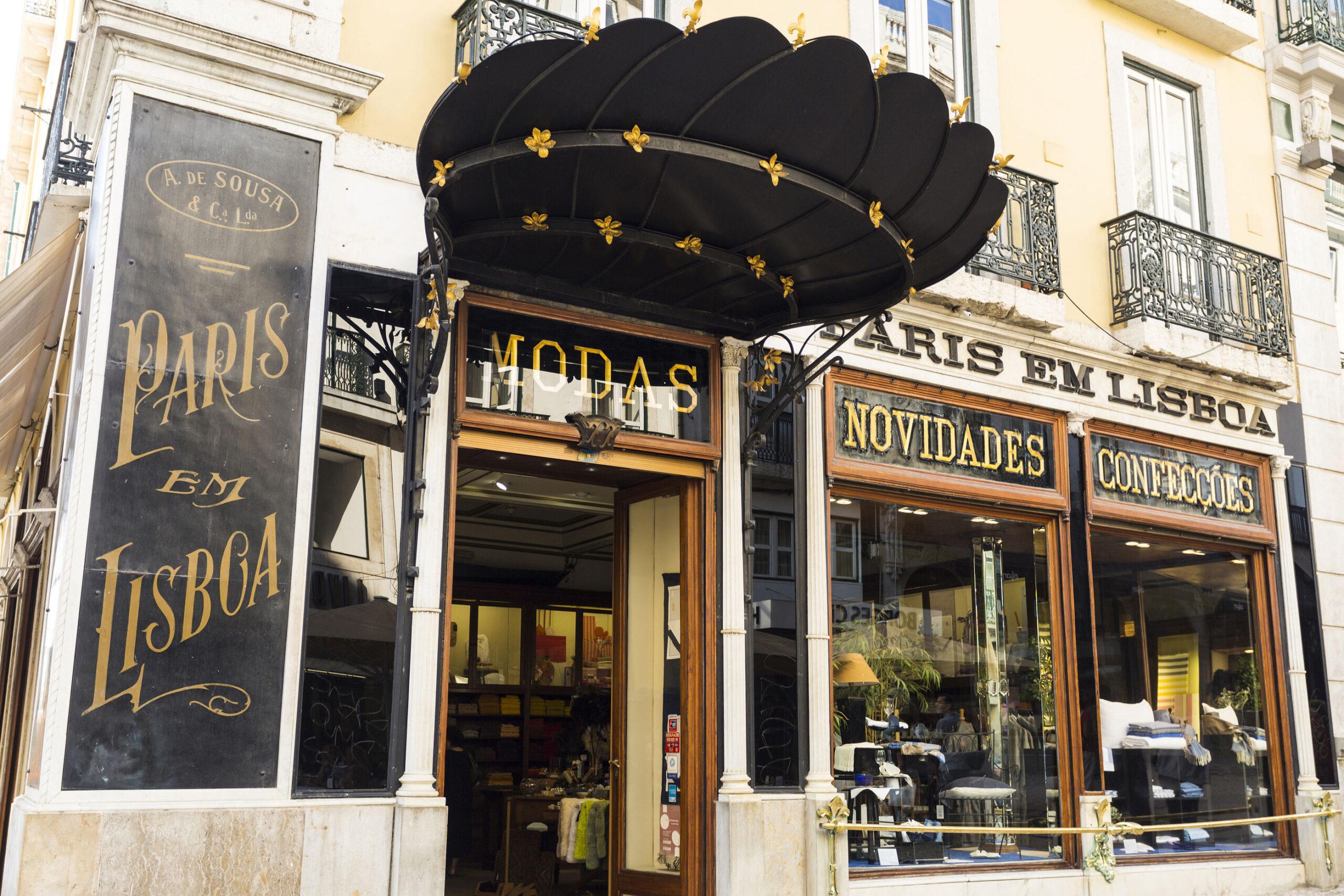 Paris em Lisboa klaer mote butikk shopping klesbutikk
